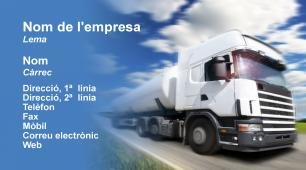 #657014 plantilla targetes de visita transport, en moviment